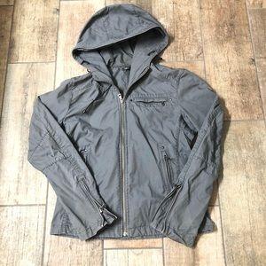 Uniqlo Hooded Utility Jacket Slim Fit Sz S
